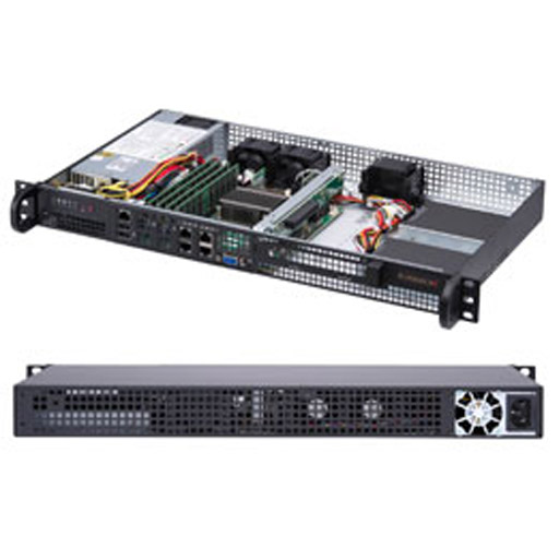 "Supermicro 1U 2x 3.5"" Fixed Drive Bays SuperServer 5019A-FTN4"