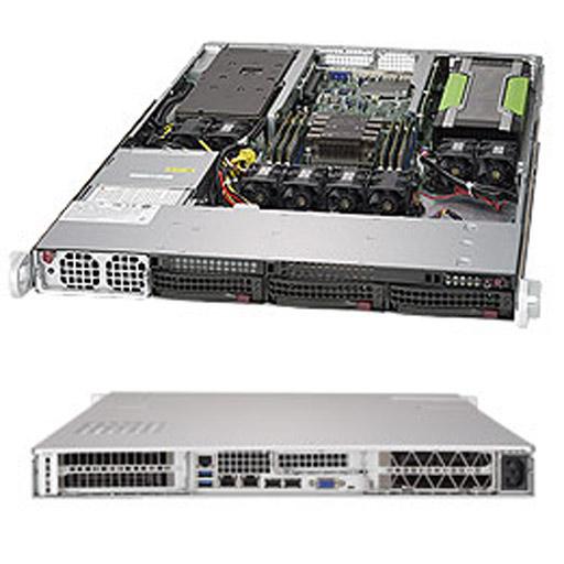 "Supermicro 1U 3x 3.5"" Bays SuperServer 2xGPUs Barebone 5019GP-TT"