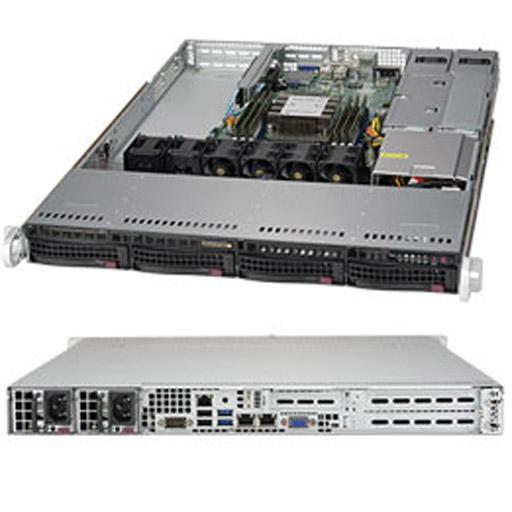 "Supermicro 1U 4x 3.5"" Bays SuperServer Barebone 5019P-WTR"