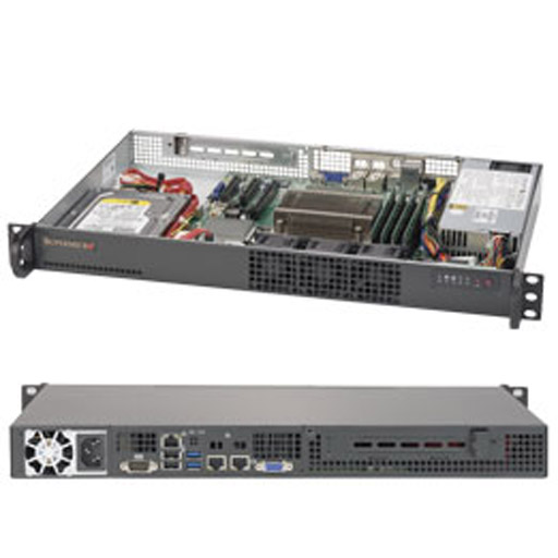 "Supermicro 1U 2x 2.5"" Fixed Drive Bays SuperServer 5019S-L"