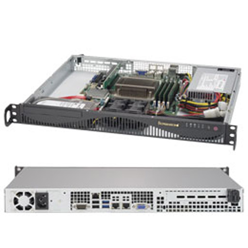 "Supermicro 1U 2x 3.5"" Fixed Drive Bays SuperServer 5019S-ML"