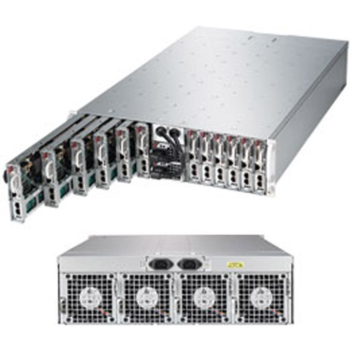 "Super Micro 3U MicroCloud 12 Nodes 24x 3.5"" Bays SuperServer 5038ML-H12TRFG"