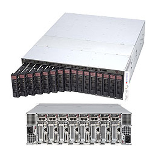 "Supermicro 3U MicroCloud 8 Nodes 16x 3.5""Bays SuperServer 5038MR-H8TRF"