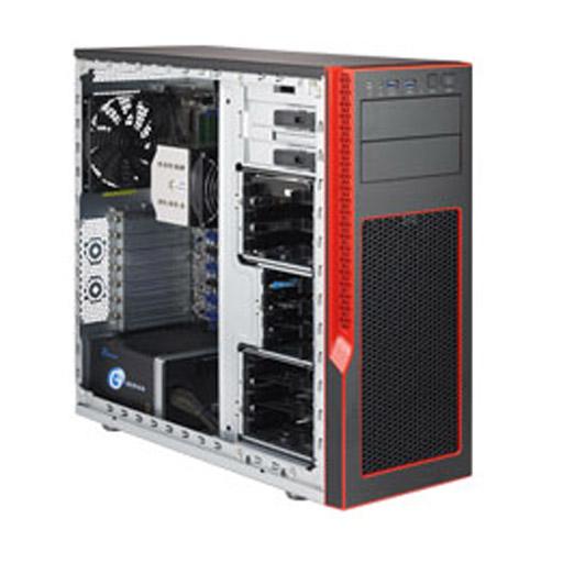 "Super Micro Tower 6x 3,5"" Fixed Drive Bays SuperServer Barebone 5039AD-T"