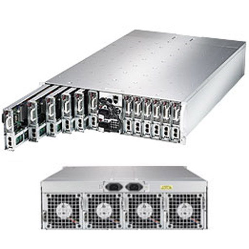 "Super Micro 3U MicroCloud 12 Nodes 24x 3.5"" Fixed Drive Bays SuperServer 5039MS-H12TRF"