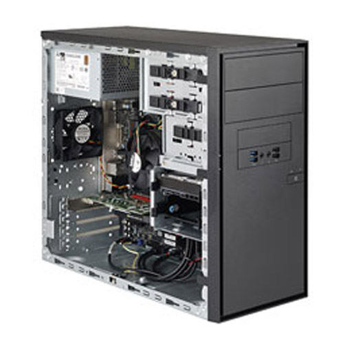 "Super Micro Tower 2x 3.5"" Fixed Drive Bays SuperServer Barebone 5130DQ-IL"