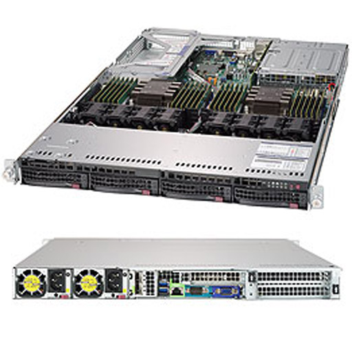 """Supermicro 1U 4x 3.5"""" Bays SuperServer 6019U-TR25M (Complete System Only)"""