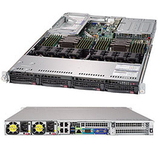 """Supermicro 1U 4x 3.5"""" Bays SuperServer 6019U-TR4 (Complete System Only)"""