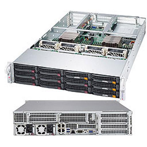 "Supermicro 2U 12x 3.5"" Bays SuperServer 6028U-E1CNRT+ (Complete System Only)"