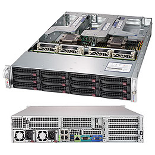 """Supermicro 2U 12x 3.5"""" Bays SuperServer 6029U-E1CR4T (Complete System Only)"""