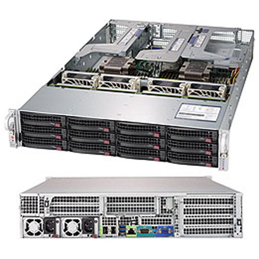 "Supermicro 2U 12x 3.5"" Bays SuperServer 6029U-E1CRTP (Complete System Only)"
