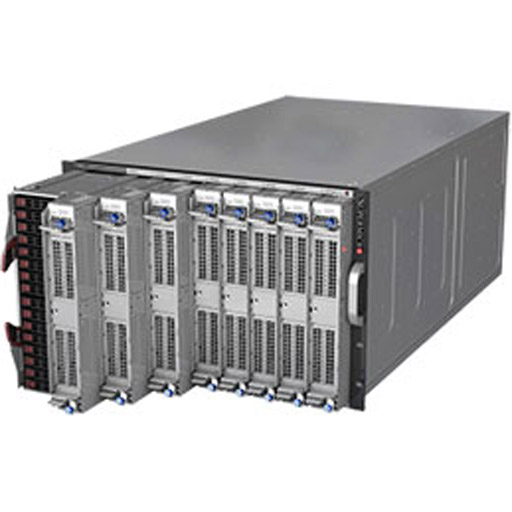 "Supermicro 7U Eight Node 16x 2.5"" Bays SuperServer Barebone 7089P-TR4T (Complete System Only)"