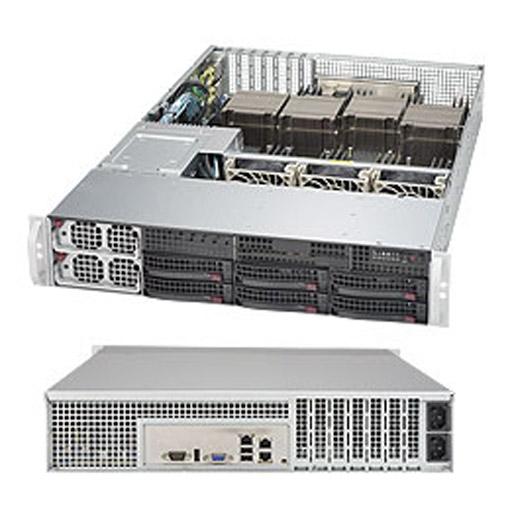 "Supermicro 2U 6x 3.5"" Bays SuperServer Barebone 8028B-TR3F"