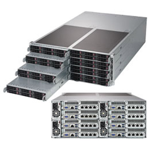 "Supermicro 4U Eight Node 48x 2.5"" Bays SuperServer Barebone F619P2-RT"