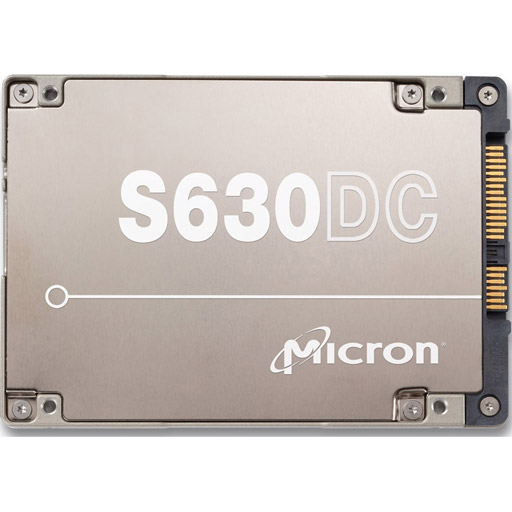 "Micron S630DC 1.9TB, SAS 12Gb/s eMLC, 2.5"", 15mm, 3DWPD"
