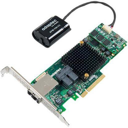 Adaptec 8885Q 12Gb/s RAID Adapter 8 port Int MiniSAS HD SFF-8643 8 port Ext SFF-8644