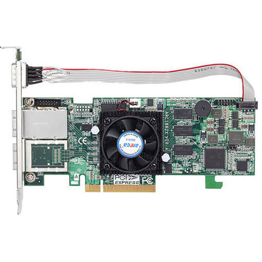 Areca 4 port 6Gb/s SAS PCIe x8 RAID Card, 1GB Cache, 1x extern SFF-8088, LP