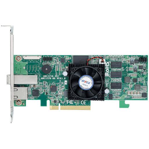 Areca 4 port 12Gb/s SAS PCIe x8 RAID Card, 1GB Cache, 1x extern SFF-8644, LP