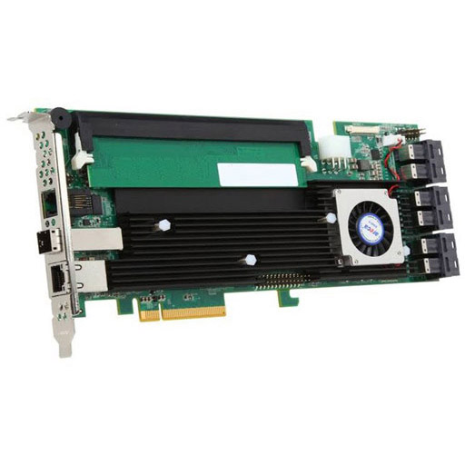 Areca 24 port 12Gb/s SAS RAID PCIe Card, Dual Core ROC, RAID 0/1/3/5/6, 2GB Cache