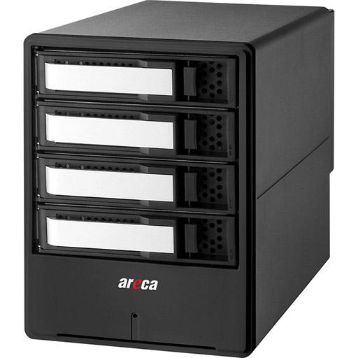 Areca Desktop RAID, 4x 6Gb/s SAS HDD's, 2x40Gb/s Thunderbolt 3, 135W PSU