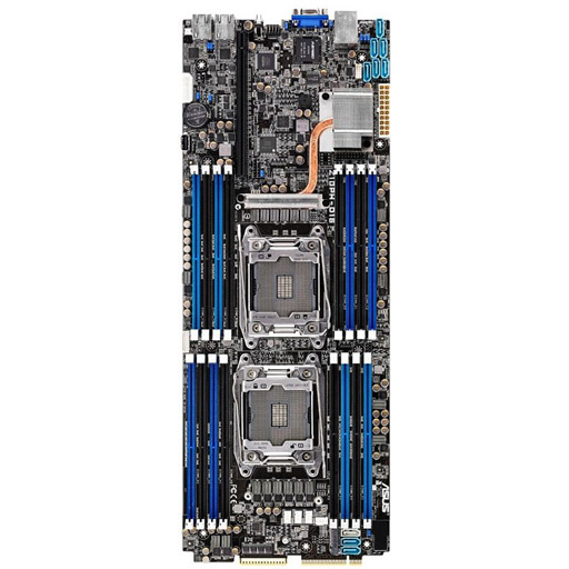ASUS Mainboard Z10PH-D16 Half-SSI LGA2011-3, 2CPU, 16x DDR4 max 1TB REG ECC, 1x PCIe, ASM-iKVM, 2x GbE, 5x SATA, 1x M.2 SATA