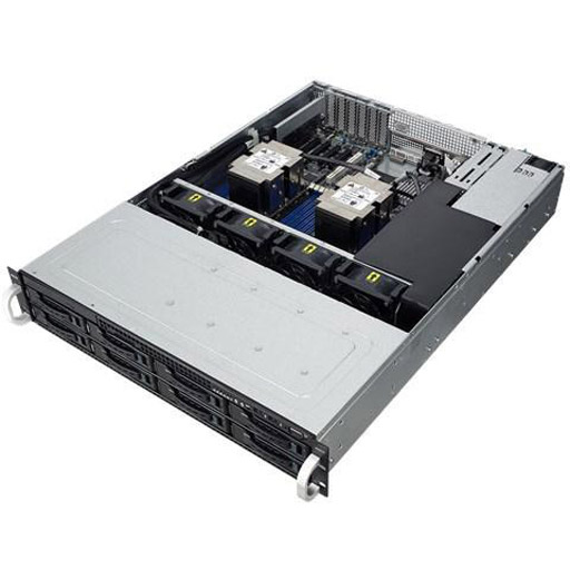 ASUS Barebone RS520-E9-RS8, 2U, 8x 3.5inch Hot-Swap, 2x LGA3647, 16x DDR4 max 2TB, ASM-iKVM, 2x GbE, 6x PCIe, 1x OCP, 11x SATA, 2x M.2, Redundant PSU