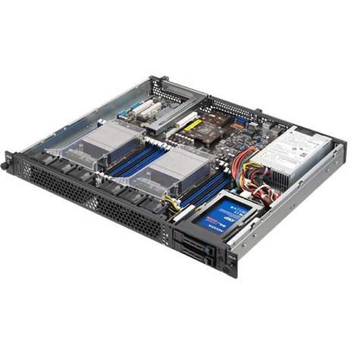 ASUS Barebone RS400-E8-PS2 1U, 2x 2.5inch Hot-swap, 2x LGA2011-3, 16x DDR4 max 1TB, ASM-iKVM, 2x GbE, 2x PCIe, 1x OCP, 9x SATA, 1x M.2, Single PSU