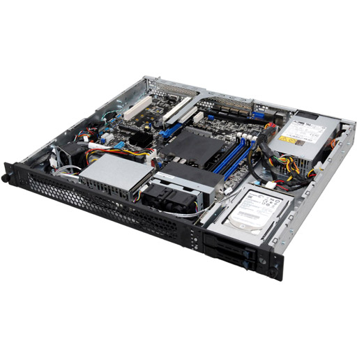 ASUS Barebone RS200-E9-PS2 1U, 2x 2.5inch Hot-swap, 1x LGA1366, 24x DDR2 max 1.5TB, 1x GbE, 2x PCIe, 2x SATA, Single PSU