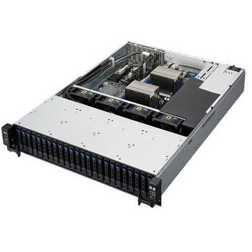 ASUS Barebone RS720-E8-RS24-ECP 2U, 26x 2.5inch Hot-swap, 2x LGA2011-3, 16x DDR4 max 1TB, ASM-iKVM, 4x GbE, 5x PCIe, 10x SATA, 1x M.2, Redundant PSU