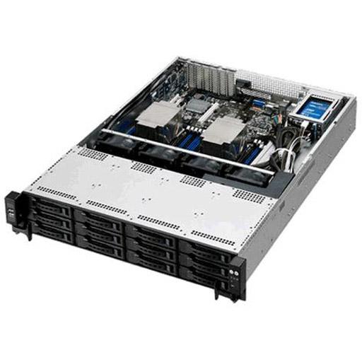 ASUS Barebone RS520-E8-RS12-E  V2 2U, 12x 3.5inch Hot-swap, 2x 2.5inch Hot-swap, 2x LGA2011-3, 16x DDR4 max 1TB, ASM-iKVM, 2x GbE, 3x PCIe, 1x OCP, 9x SATA, 1x M.2, Redundant PSU