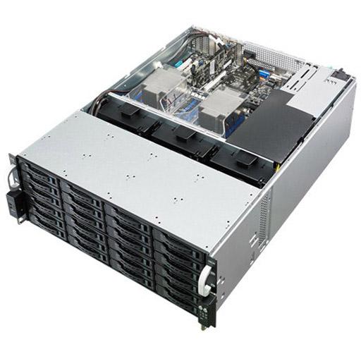 ASUS Barebone RS540-E8-RS36-ECP 4U 36x 3.5inch Hot-swap, 2x 2.5inch Hot-swap, 2x LGA2011-3, 16x DDR4 max 1TB, ASM-iKVM, 2x GbE, 3x PCIe, 1x OCP, 9x SATA, 1x M.2, Redundant PSU