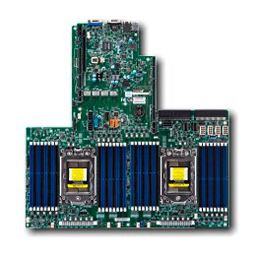 Supermicro Mainboard Proprietary Ultra/WIO 2x Socket SP3, 32x DDR4 max 4TB, 3x PCIe, IPMI, 2x GbE, 14x SATA, 4x NVMe, Bulk