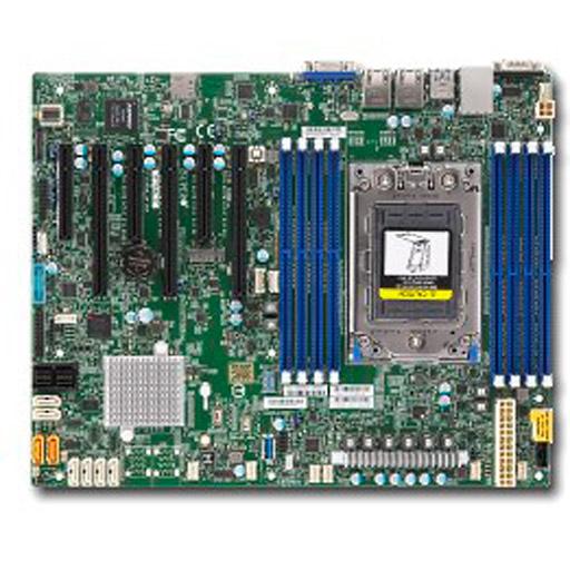 Supermicro Mainboard ATX 1x Socket SP3, 8x DDR4 max 1TB, 6x PCIe, IPMI, 2x GbE, 8x SATA, 8x SAS, 1x M.2