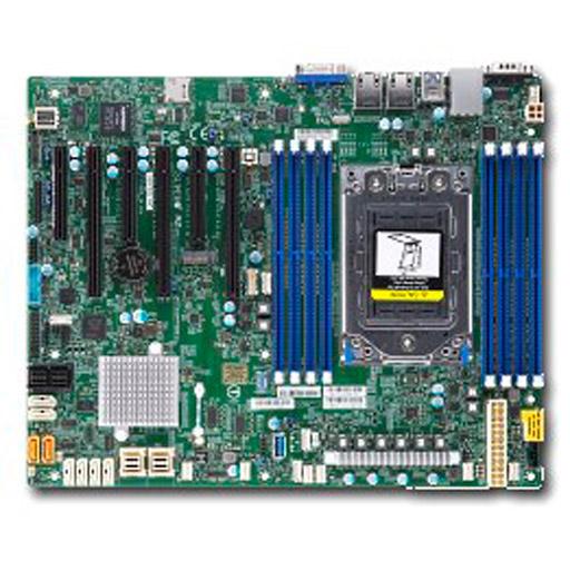 Supermicro Mainboard ATX 1x Socket SP3, 8x DDR4 max 1TB, 6x PCIe, IPMI, 2x GbE, 8x SATA, 8x SAS, 2x NVMe, 1x M.2