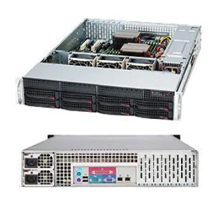 Supermicro 2U Server, 8x 3.5 inch, 2x Intel Silver 4210, 1x 8GB, 1x 240GB SSD, Redundant PSU