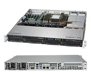 Supermicro 1U Server, 4x 3.5 inch, 1x Intel Silver 4210, 1x 8GB, 1x 240GB SSD, Redundant PSU