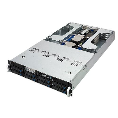 ServerDirect 2U GPU Server, 8x 3.5 inch, 2x Intel Silver 4110, 4x 16GB, 2x 240GB SSD, 4x GPU nVidia RTX2080TI, Redundant PSU