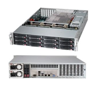 Supermicro 2U Server, 12x 3.5 inch, 2x Intel Silver 4210, 1x 8GB, 1x 240GB SSD, Redundant PSU