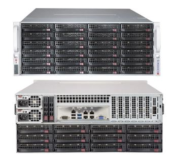 Supermicro 4U Server, 36x 3.5 inch, 2x Intel Silver 4210, 2x 8GB, 2x 240GB SSD, Redundant PSU