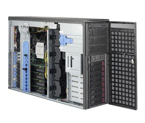 Supermicro 4U Tower Server, 8x 3.5 inch, 2x Intel Silver 4110, 2x 8GB, 2x 240GB SSD, Redundant PSU