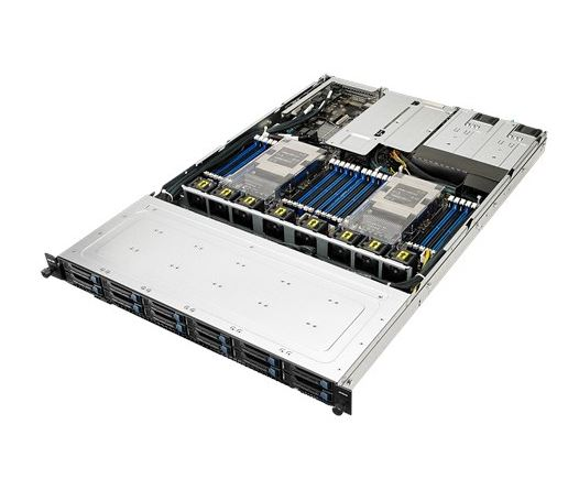 Asus 1U Server, 12x 2.5 inch, 2x Intel Silver 4110, 1x 8GB, 1x 250GB SSD, Redundant PSU