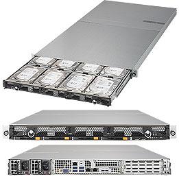 1U 12bay server. X11DDW-NT CSE-802TS-R606WBP