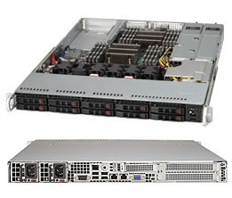 Supermicro 1U Server, 10x 2.5 inch, 2x NVME, 2x Intel Silver 4214, 4x 8GB, 1x 250GB M.2, Redundant PSU